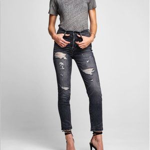 HUDSON Zoeey High Rise Straight Crop Jeans